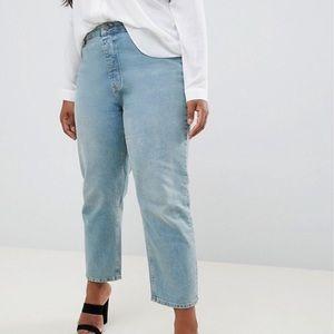 ASOS Curve Straight Leg Stonewashed Jeans Sz38